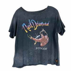 Trunk Ltd Neil Diamond Boxy Black Tee Shirt Small